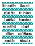 Fourth Grade Reading Wall Words (Scott Foresman)