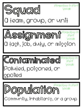 Fourth Grade ReadyGen Unit 1 Module A Vocabulary