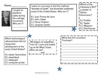 Fourth Grade Review Activity for CRCT Social Studies