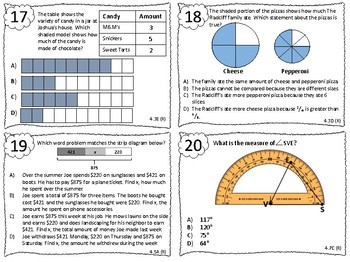 NEW Fourth Grade Review Task Cards ALL STANDARDS 108 task cards! STAAR test prep