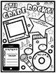 Fourth Grade Rocks Back to School Pair & Share Rock Star Themed Poster Activity