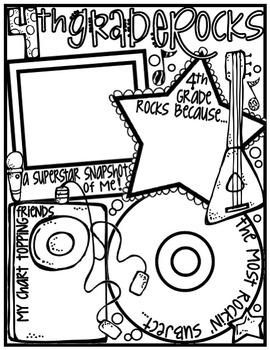 Fourth Grade Rocks! Poster: A Rockin' Back to School Ice Breaker Activity