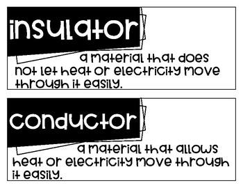 Fourth Grade Science Fusion Unit 10 Vocabulary
