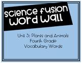 Fourth Grade Science Fusion - Unit 3 Vocabulary