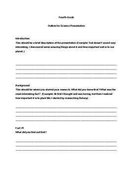 Fourth Grade Science Presentation Outline