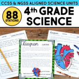 Fourth Grade Science Station BUNDLE - ALL Next Generation Science Standards