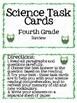 Fourth Grade Science Test Prep Cards