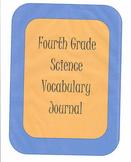 Fourth Grade Science Vocabulary Journal