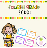 Fourth Grade Scoot - Decimals, Fractions and Multiplication