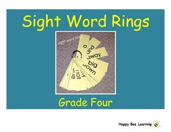 Forth Grade Sight Words