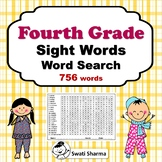 36 Fourth Grade Sight Words Word Search, Vocabulary Activities
