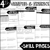 Fourth Grade Skill Pages Data, Graphs, and Personal Finance