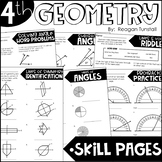 Fourth Grade Skill Pages Geometry