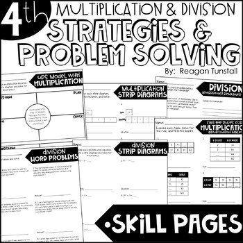 Fourth Grade Skill Pages Multiplication & Division Strategies & Problem Solving