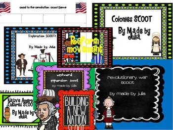 Fourth Grade Social Studies Scoot BUNDLE- Great for GA Milestone!
