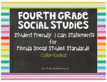 Fourth Grade Social Studies Standards- Florida
