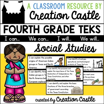 Fourth Grade Social Studies TEKS - Can and Will Standards