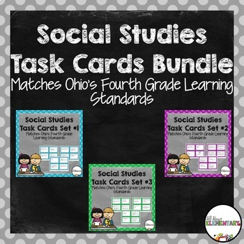 Fourth Grade Social Studies Task Cards Bundle