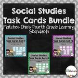 Fourth Grade Social Studies Task Cards Bundle