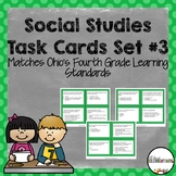 Fourth Grade Social Studies Task Cards Set #3