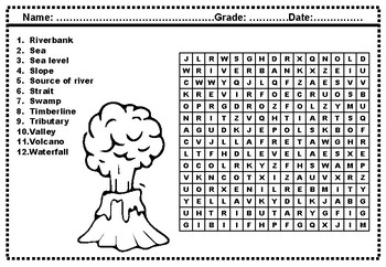 Fourth Grade Social Studies, Word Search Worksheets