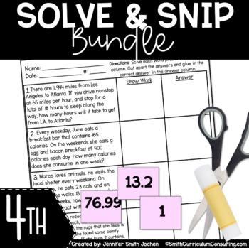 Fourth Grade Solve and Snips Bundle
