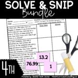 Fourth Grade Solve and Snips® Bundle