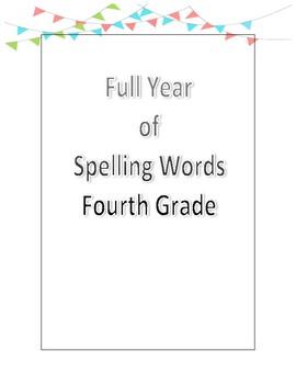 Fourth Grade Spelling List