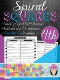 Fourth Grade Spiral Review Squares - Quarter 4