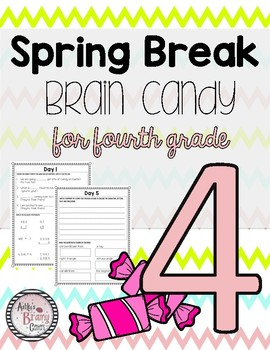 Fourth Grade Spring Break Packet
