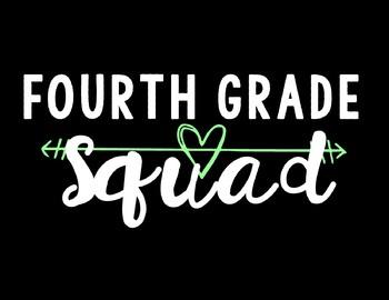 Fourth Grade Squad Background