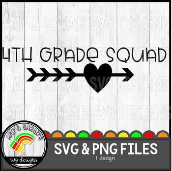 Fourth Grade Squad SVG Design