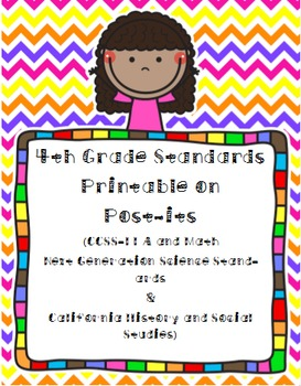 Fourth Grade Standards Post-its