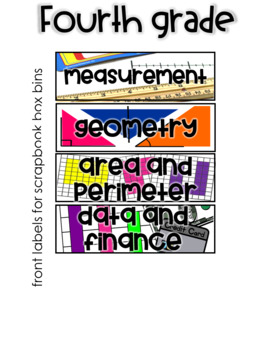 Fourth Grade Stations by Standards Labels Free