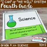 Fourth Grade Streamlined Science TEKS I Can Statements