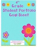 Fourth Grade Student Portfolio Goal Sheet