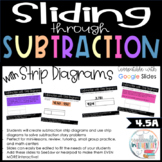 Fourth Grade Subtraction Digital Slides - Strip Diagrams