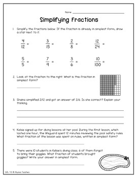 Fourth Grade Summer Math Review Packet (SOL 4.4 & 4.5)