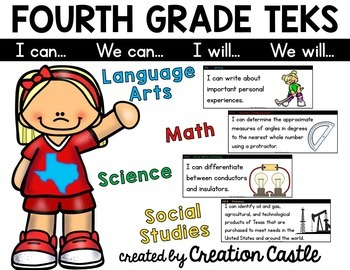 Fourth Grade TEKS Bundle - Can and Will Standards Statements