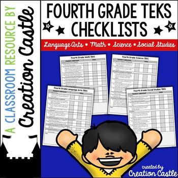 Fourth Grade TEKS Checklists