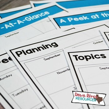 Fourth Grade TEKS Year Planner- Back to School-Texas 4th Curriculum Pacing Guide