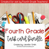 Fourth Grade Task Card Bundle of Resources for Interactive