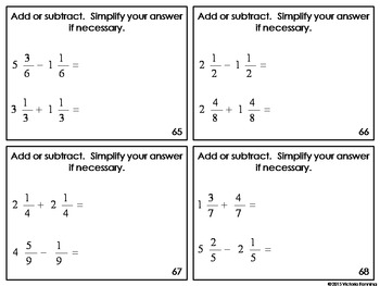Fourth Grade Task Cards: 4.NF