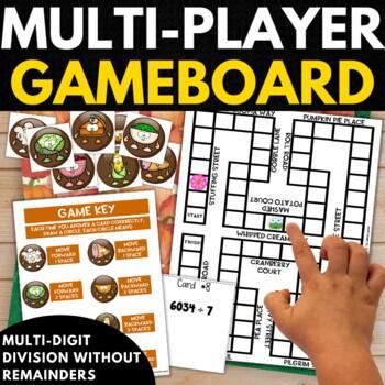 4th Grade Math Game - Thanksgiving Math Puzzles