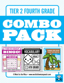 Fourth Grade Tier 2 Vocabulary Combo Pack