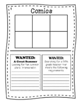 """End of Year Writing Activity - """"Fourth Grade Times"""""""