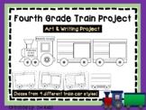 Fourth Grade Train Art Project, 4th Cut and Color - Cooperative Art
