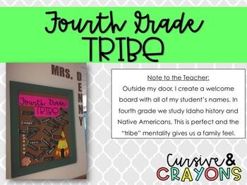 Fourth Grade Tribe Bulletin Board