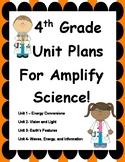 Fourth Grade Unit Plans for Amplify Science Units 1-4! BUNDLE!