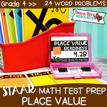 Fourth Grade Value of Digits Math Test Prep Review Game   4th Grade TEKS